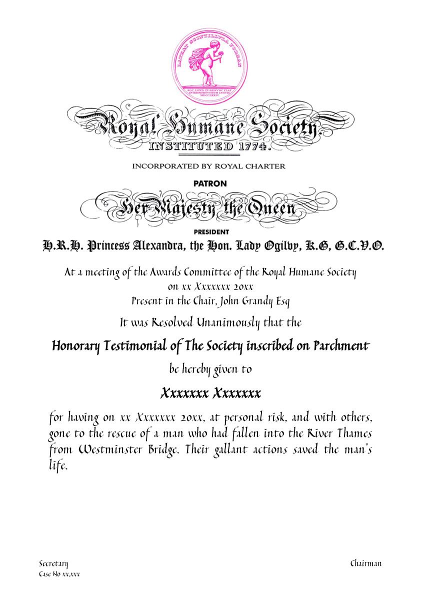 Parchment Certificate