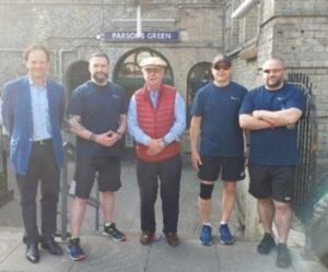 Rupert Novis, PS Darren Laurie, John Grandy, PC Darren Sanders, and PC Mick Gibson at the start.